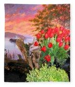 Tulip Town 19 Fleece Blanket