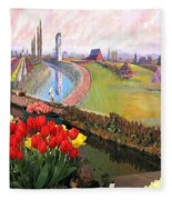 Tulip Town 21 Fleece Blanket