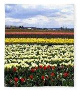Tulip Town 4 Fleece Blanket