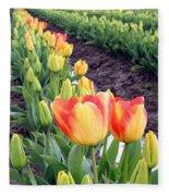 Tulip Town 6 Fleece Blanket