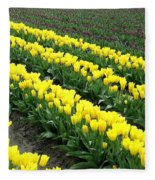 Tulip Town 9 Fleece Blanket