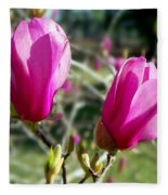 Tulip Tree Blossoms Fleece Blanket