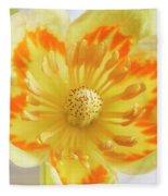 Tulip Tree Flower Fleece Blanket