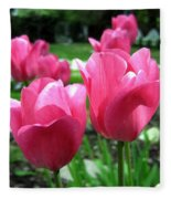 Tulipfest 3 Fleece Blanket