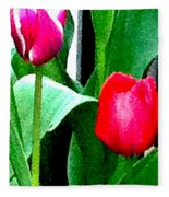 Tulips 2 Fleece Blanket