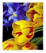 Tulips And Iris Fleece Blanket