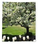 Tulips And Tees Fleece Blanket