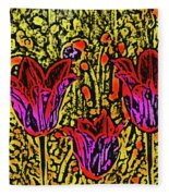 Tulips Are Tulips Fleece Blanket