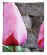 Tulips Artwork Flowers 26 Pink Tulip Flowers Art Prints Nature Floral Art Fleece Blanket
