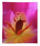 Tulips Artwork Pink Purple Tuli Flower Art Prints Spring Garden Nature Fleece Blanket