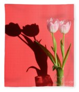 Tulips Casting Shadows Fleece Blanket