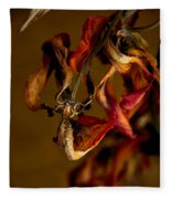 Tulip's Demise - A Natural Abstract Fleece Blanket