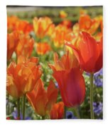 Tulips Everywhere 3 Fleece Blanket