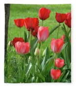 Tulips Flowers Art Prints Spring Tulip Flower Artwork Nature Art Fleece Blanket