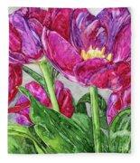 Tulips From A Friend Fleece Blanket