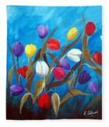 Tulips Galore II Fleece Blanket