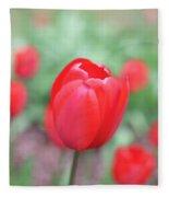 Tulips In Spring 4 Fleece Blanket