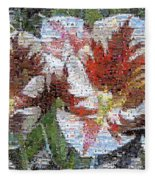 Tulips In Springtime Photomosaic Fleece Blanket