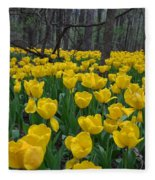 Tulips In The Woods Fleece Blanket