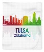 Tulsa Ok 1 Squared Fleece Blanket