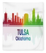 Tulsa Ok 1 Vertical Fleece Blanket