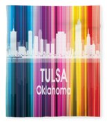 Tulsa Ok 2 Vertical Fleece Blanket