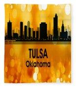 Tulsa Ok 3 Vertical Fleece Blanket