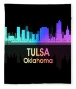 Tulsa Ok 5 Squared Fleece Blanket