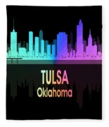 Tulsa Ok 5 Vertical Fleece Blanket