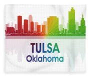 Tulsa Ok Fleece Blanket