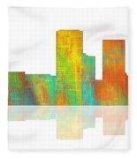 Tulsa Oklahoma Skyline-1 Fleece Blanket