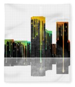 Tulsa Oklahoma Skyline Fleece Blanket