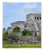 Tulum Mayan Ruins Fleece Blanket