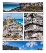Tulum, Mexico Collage Fleece Blanket