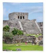 Tulum Ruins   Fleece Blanket