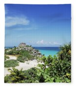 Tulum Ruins Fleece Blanket
