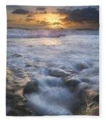 Tumbling Surf Fleece Blanket