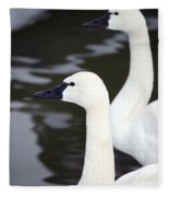Tundra Swans Fleece Blanket