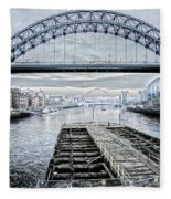 Tyne Bridge, Newcastle Fleece Blanket