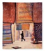 Tunisian Rug Vendor Fleece Blanket