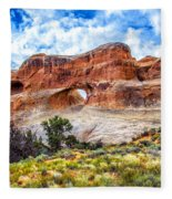 Tunnel Arch Trail View Fleece Blanket