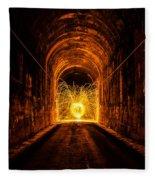 Tunnel Sparks Fleece Blanket