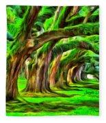 Tunnel Tree Fleece Blanket