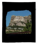 Tunnel View Mt Rushmore 2 A Fleece Blanket