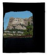 Tunnel View Mt Rushmore 2 B Fleece Blanket