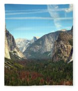Tunnel View Yosemite Fleece Blanket