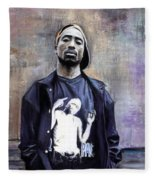 Tupac Shakur Fleece Blanket