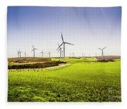 Turbine Fields Fleece Blanket