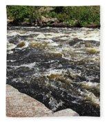 Turbulent Dalles Rapids Fleece Blanket