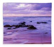 Turbulent Daybreak Seascape Fleece Blanket